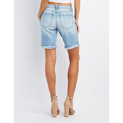 Refuge Bermuda Cut-Off Denim Shorts