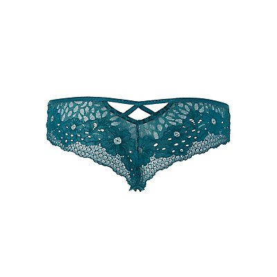 Lace & Microknit Cheeky Panties