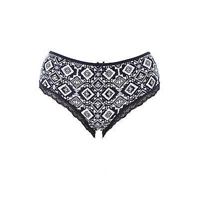 Plus Size Printed Hipster Panties