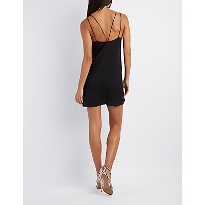 Lace-Trim Strappy Slip Dress