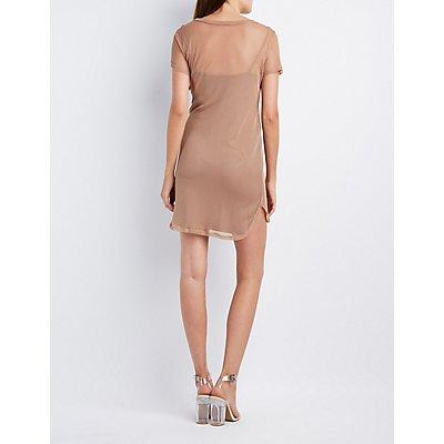 Fishnet Overlay Bodycon Dress