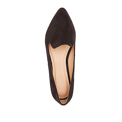 Gold-Trim Pointed Toe Flats