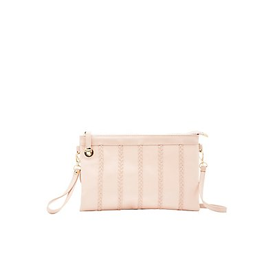 Braided-Trim Convertible Clutch