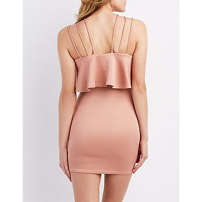 Strappy Tiered Bodycon Dress