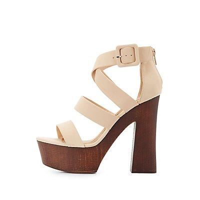 Qupid Strappy Platform Sandals