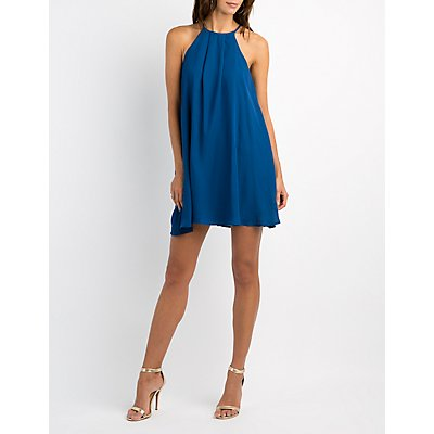 Bib Neck Shift Dress