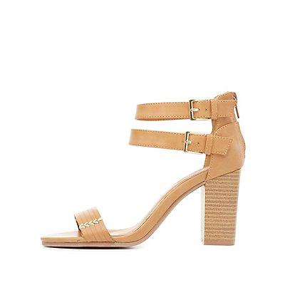 Topstitch Strappy Sandals