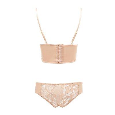 Lace Longline Bra & Panties Set