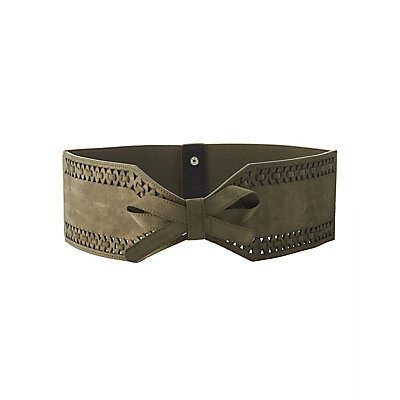 Plus Size Bow-Tied Elastic Waist Belt