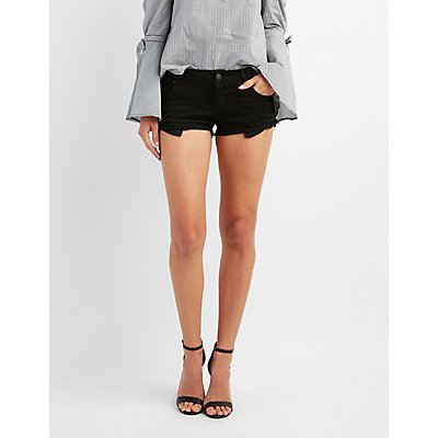 Refuge Super Shortie Denim Cut-Off Shorts