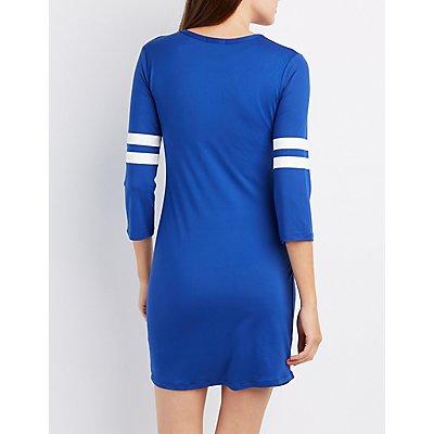 Varsity Stripe Bodycon Dress