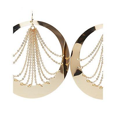 Draped Chainlink Hoop Earrings
