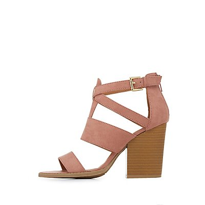 Strappy Chunky Heel Sandals