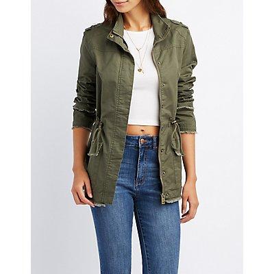 Distressed Anorak Jacket