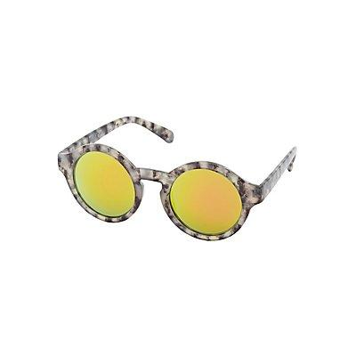 Reflective Round Sunglasses