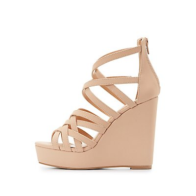 Strappy Platform Wedge Sandals