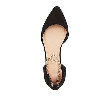 Chainlink Strap Pointed Toe Flats