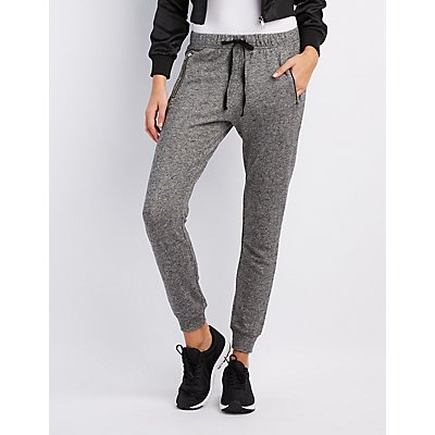 Zipper-Pocket Jogger Pants