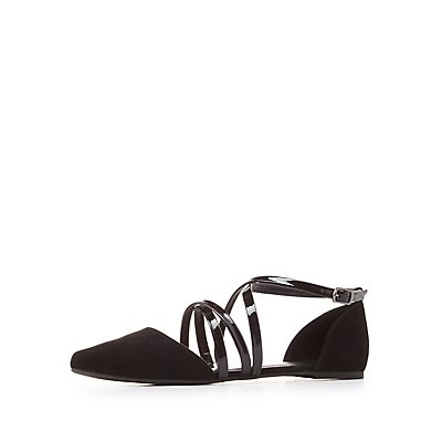 Strappy D'Orsay Flats