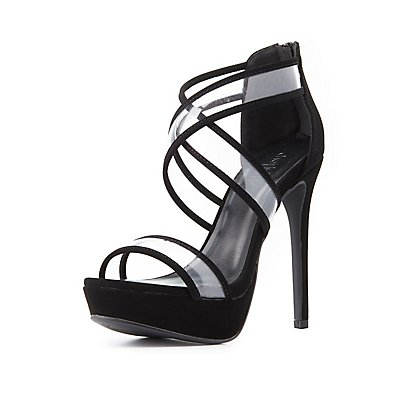 Clear Strap Crisscross Sandals