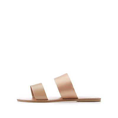 Colorblock Two-Band Slide Sandals