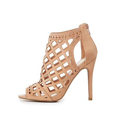 Caged Laser Cut Dress Sandals
