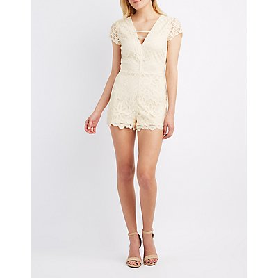 Caged Lace Romper
