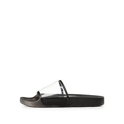 Clear Strap Slip-On Sandals