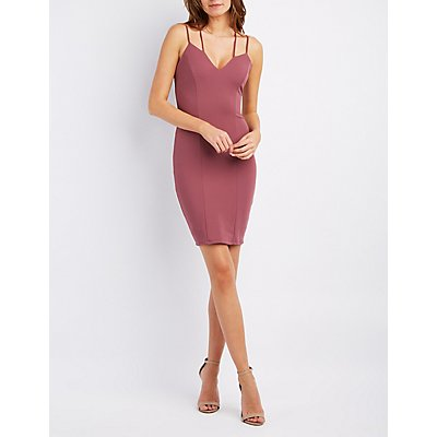 Strappy Crisscross Bodycon Dress