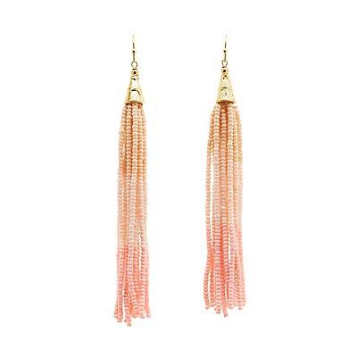 Ombre Bead Tassel Earrings