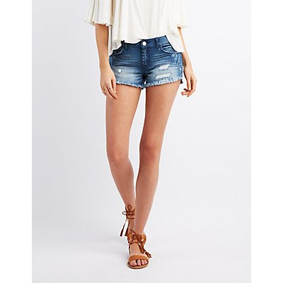 Refuge Embroidered Shortie Shorts