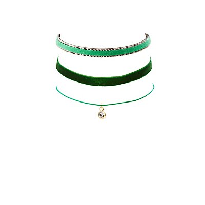 Stackable Choker Necklaces - 3 Pack