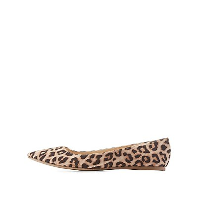 Leopard Print Pointed Toe Flats