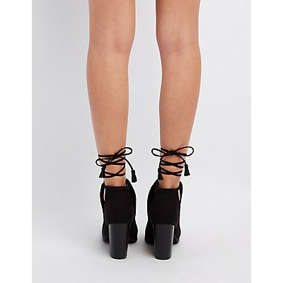 Cut-Out Peep Toe Ankle Booties