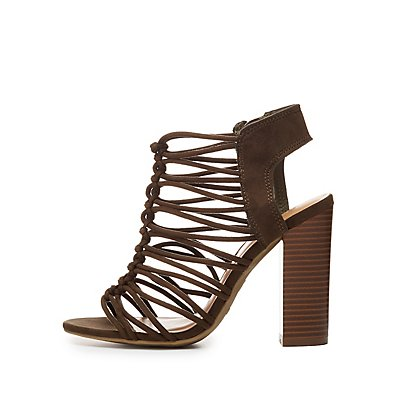Bamboo Knotted Strappy Sandals
