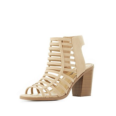 Caged Strappy Sandals