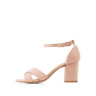 Crisscross Two-Piece Sandals