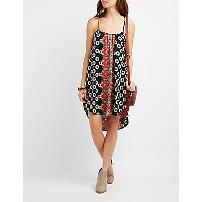 Boho Print Shift Dress
