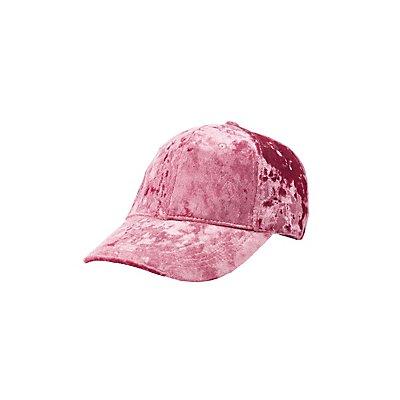 Crushed Velvet Baseball Hat