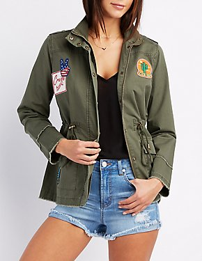 Frayed Patch Anorak Jacket