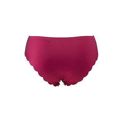 Plus Size Scalloped Cheeky Panties