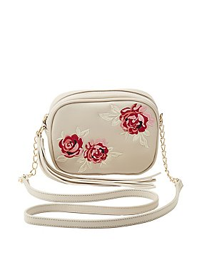 Embroidered Crossbody Bag