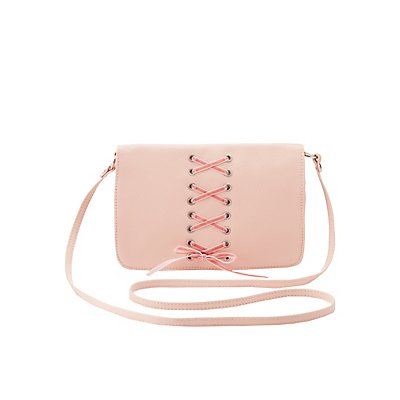 Lace-Up Crossbody Bag