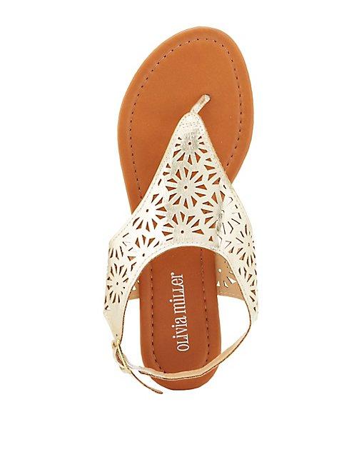 0ccc22b06 Laser Cut Thong Sandals