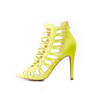 Caged Lattice Dress Sandals