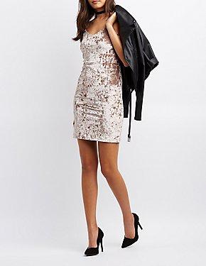 Crushed Velvet Bodycon Dress