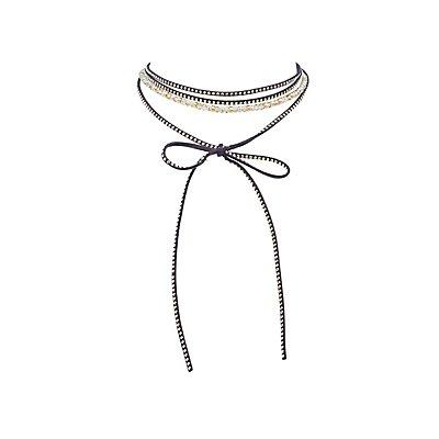 Beaded & Embellished Choker Necklace