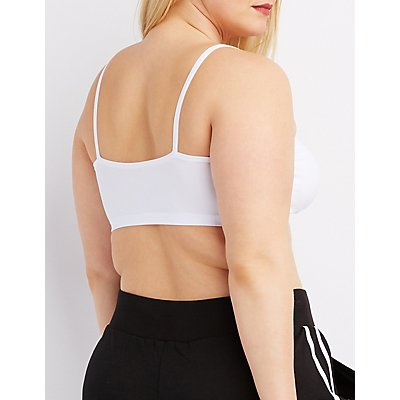 Plus Size Strappy Caged Bralette