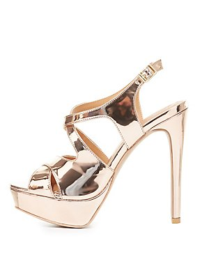 Qupid Platform Slingback Sandals