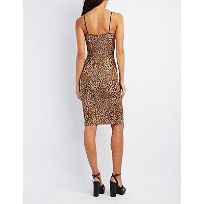 Leopard Bodycon Midi Dress